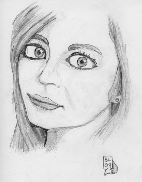 Can You See The Resemblance 1: A sketch I did from a head shot from an actress.  But... can you see the resemblance?