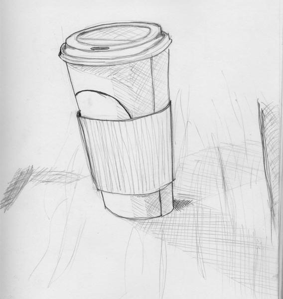 Still Life at Starbucks: I wanted to draw something, and well... now you know where I spend my time.  If you didn't, already.