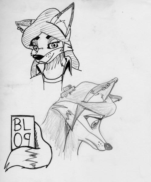 "Page o' Foxes: Random page from sketchbook, so I figure it belongs under ""sketchbook"".  I quite like it, for some reason."
